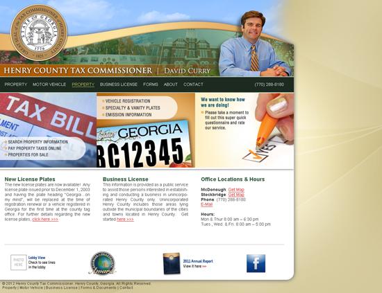 Tax Website Mockup