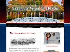 Veterans Wall website