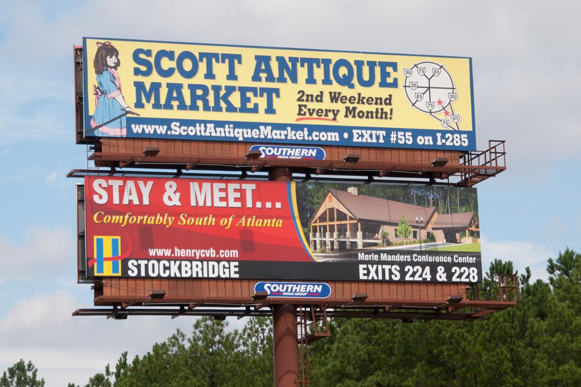 Merle Manders Conference Center Billboard