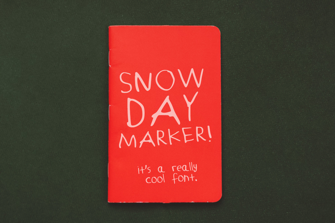 Snow Day Marker – Font